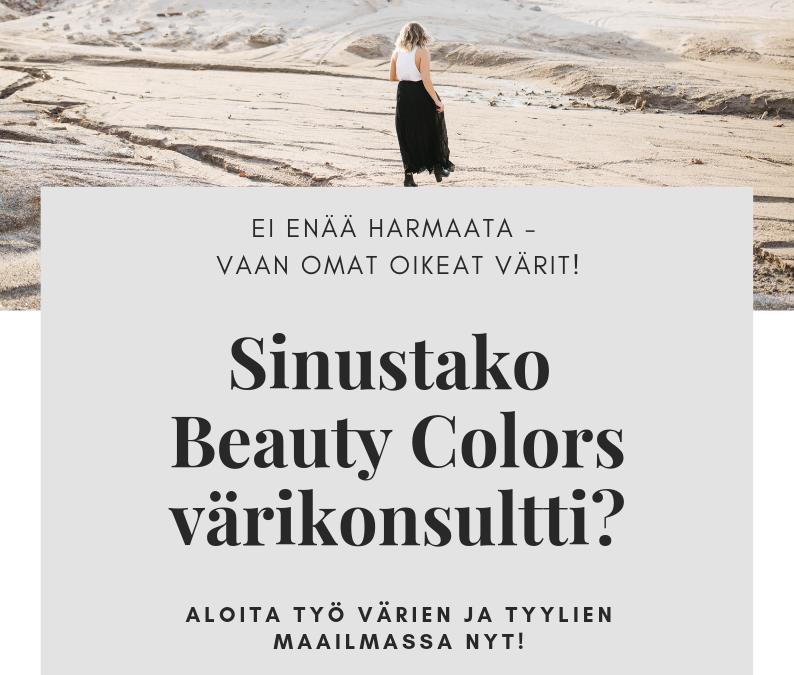 Ei enää pelkkää harmaata – vaan omat oikeat värit!